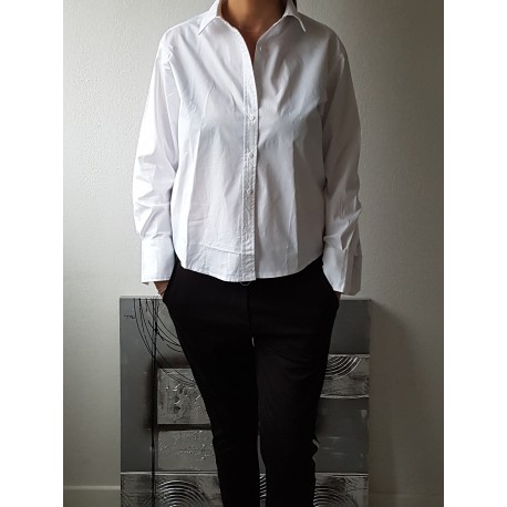 Chemise working girl blanche