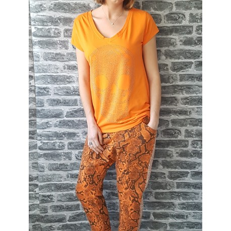Jogg Loose Sequins Snake Orange
