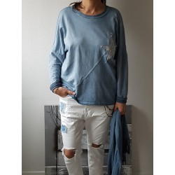 Sweat Daphnéa  bleu jean